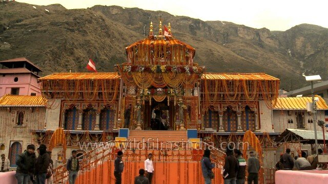 Badrinath temple one of the Char Dham in the Himalayas