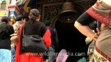 Devotees at Badrinath temple