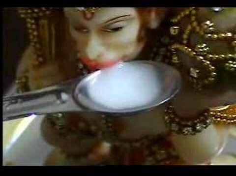Hanuman drinking milk