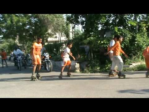 Kanwar on skating from Neelkanth , Haridwar to Greater Noida by Rajnikant Thakur  and his team