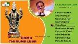 Lord Balaji Songs – Namo Thirumalesa – S.P.Balasubrahmaniam – JUKEBOX